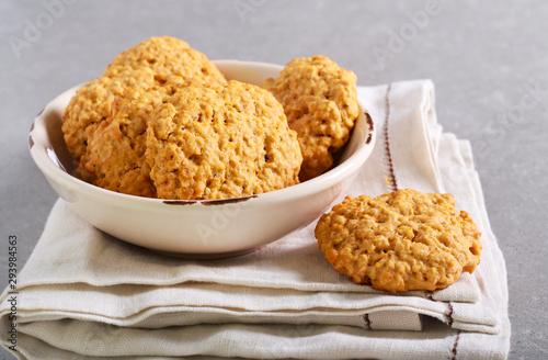 Pumpkin oatmeal cookies Fototapet