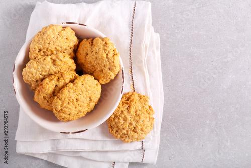 Fototapeta Pumpkin oatmeal cookies obraz