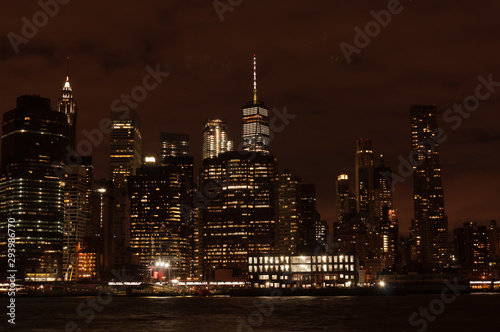 Fototapety, obrazy: Panorama of New York City by night
