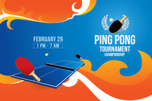 Vector Of Ping Pong Background...