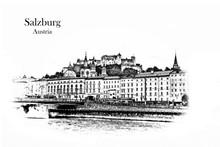 Salzburg , Austria - Vintage T...
