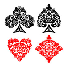 Playing Card Decorative Suit S...