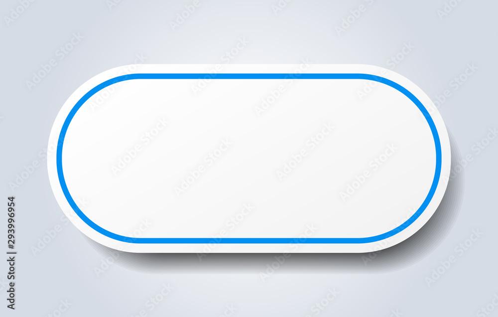 Fototapety, obrazy: blank sign. blank rounded blue sticker. blank