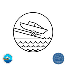 Boat Ramp Outline Icon. Motor ...