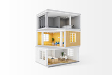Model Of Private House With Ro...