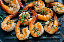 Grilled Tiger Shrimps With Spi...