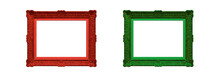 Wooden Frame In Christmas Colo...