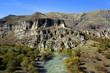 Tal der Kura nahe der Höhlenstadt Wardsia im Kleinen Kaukasus (Georgien)