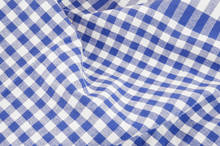 Blue And White Checked Tablecl...