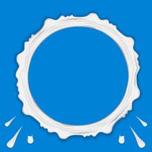 Set Of Milk Ring Splashes Isol...