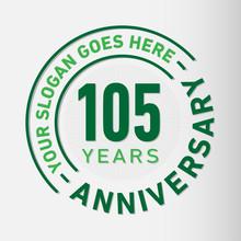 105 Years Anniversary Logo Tem...