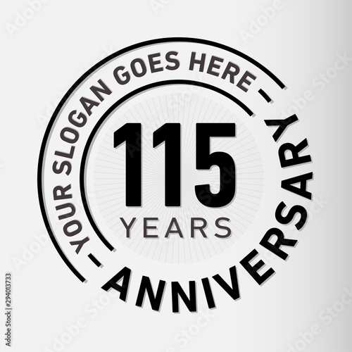 Papel de parede  115 years anniversary logo template