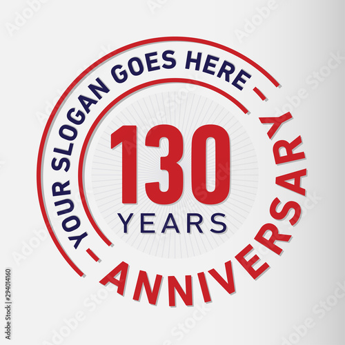 130 years anniversary logo template Canvas Print