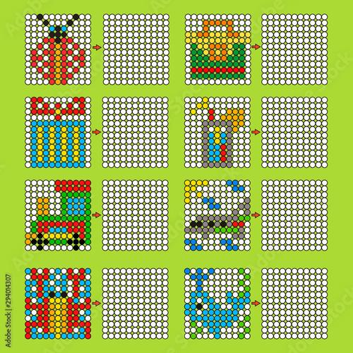 Education logic game for preschool kids Fototapeta