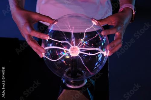 Fotografía plasma ball energy