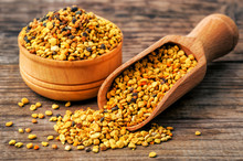 Healthy Bee Pollen On Wooden B...