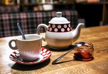 Vintage Tea Set And Jam