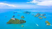 Aerial View Ang Thong National Marine Park At Ko Samui, Smui, Suratthani, Thailand.