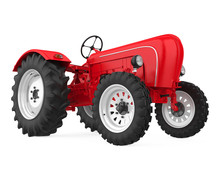 Agriculture Tractor Isolated