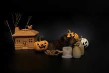 Decorated Pumpkin Lanterns, Cl...