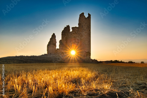 Sunset in Caudilla Castle. Toledo, Spain