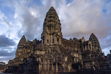 Angkor Wat Temple At The Dawn,...