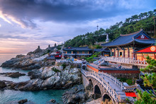 Hae Dong Yonggungsa Temple At Sunrise Busan South Korea