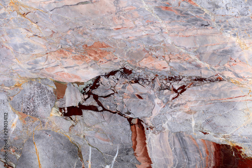 Photo sur Toile Marbre Natural marble background in gentle grey color with unusual surface. High quality texture.
