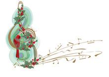 Winter Music. Abstract Treble ...