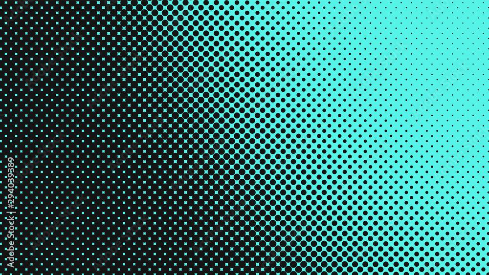 Light turquoise with black modern pop art background with halftone dots design, vector illustration <span>plik: #294039389 | autor: Sorokin</span>