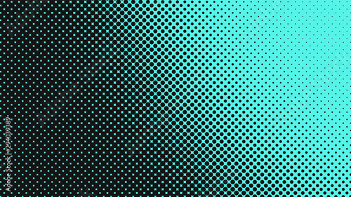 Light turquoise with black modern pop art background with halftone dots design, vector illustration