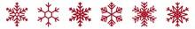 Snowflakes Red | Snowflake Ico...