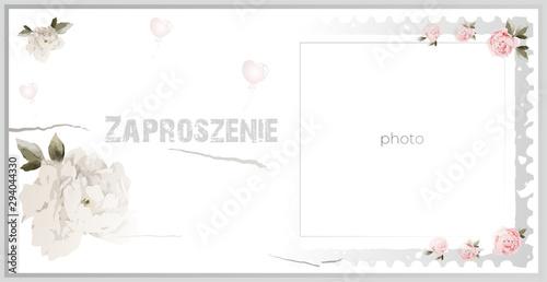 Fototapeta Zaproszenie, invitation, urodziny, impreza obraz