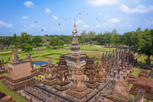Aerial View Of Ancient Buddha ...