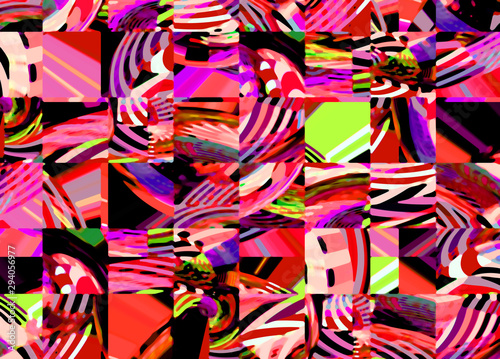 Deurstickers Paradijsvogel Abstract colored pattern. Digital art