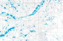 Rich Detailed Vector Map Of Burnsville, Minnesota, USA