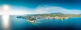 Fototapeta Fototapety z morzem do Twojej sypialni - Grecja z lotu ptaka