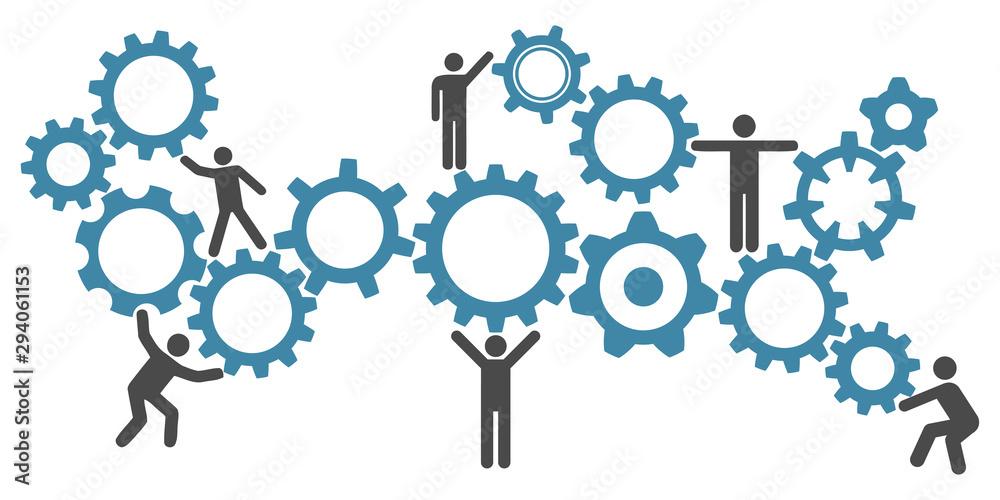 Fototapety, obrazy: Concept teamwork, staff, partnership - vector for stock