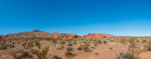 Low Angle View Of The Desert In The Valley Of Fire In Nevada