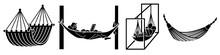 Hammock Icons Set. Simple Set ...