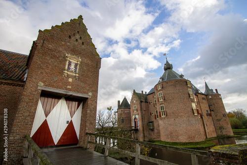 Valokuva Kasteel Ammersoyen - Dutch Medieval Castle 12th Century in the Province of Gelde