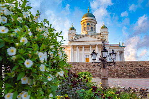 Canvas Print Panorama of Helsinki in summer