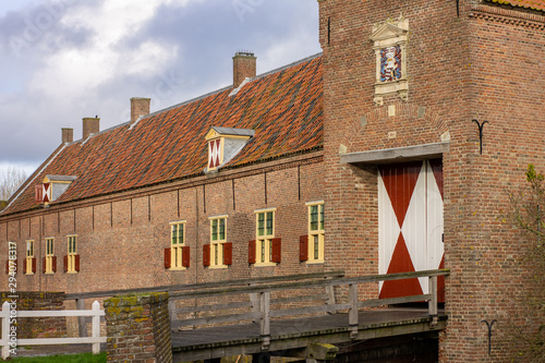 Kasteel Ammersoyen - Dutch Medieval Castle 12th Century in the Province of Gelde Fototapete