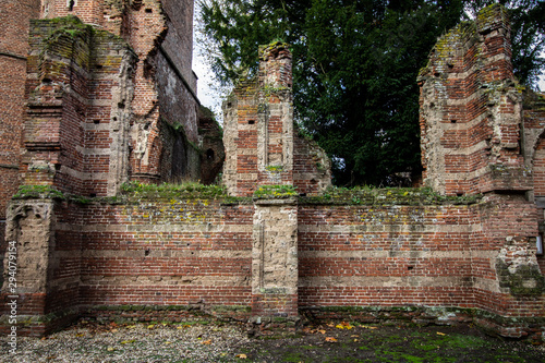 Photo Medieval Cathedral Ruins in the Dutch Town of Ammerzode, The Netherlands