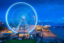 Ferris Wheel In Helsinki. Finl...