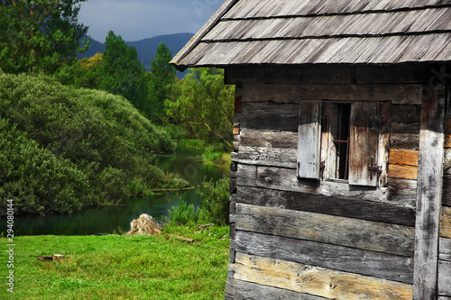 Fototapety, obrazy: Watermills on Majerovo vrilo, the source of the the Gacka River