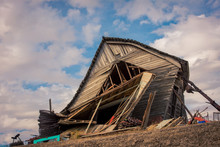 Dilapidated Wooden Barn Rural Washington