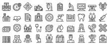 Family Health Clinic Icons Set...