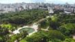 Park Farroupilha (Porto Alegre, Rio Grande do Sul, Brazil) aerial view