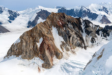 Jagged Peaks Among The Ice Fie...